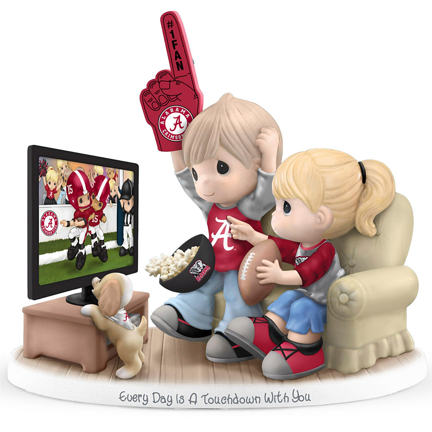 Precious Moments Every Day Is A Touchdown With You Alabama Crimson Tide Figurine by The Hamilton Collection by The Hamilton Collection