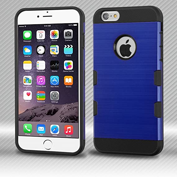 4d1a2b06f641 Image Unavailable. Image not available for. Color  HD Accessory Mybat  Military Grade TUFF Trooper Dual Layer Hybrid Case for iPhone 6 Plus