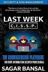 Security and Risk Management (Last Week CISSP) Paperback