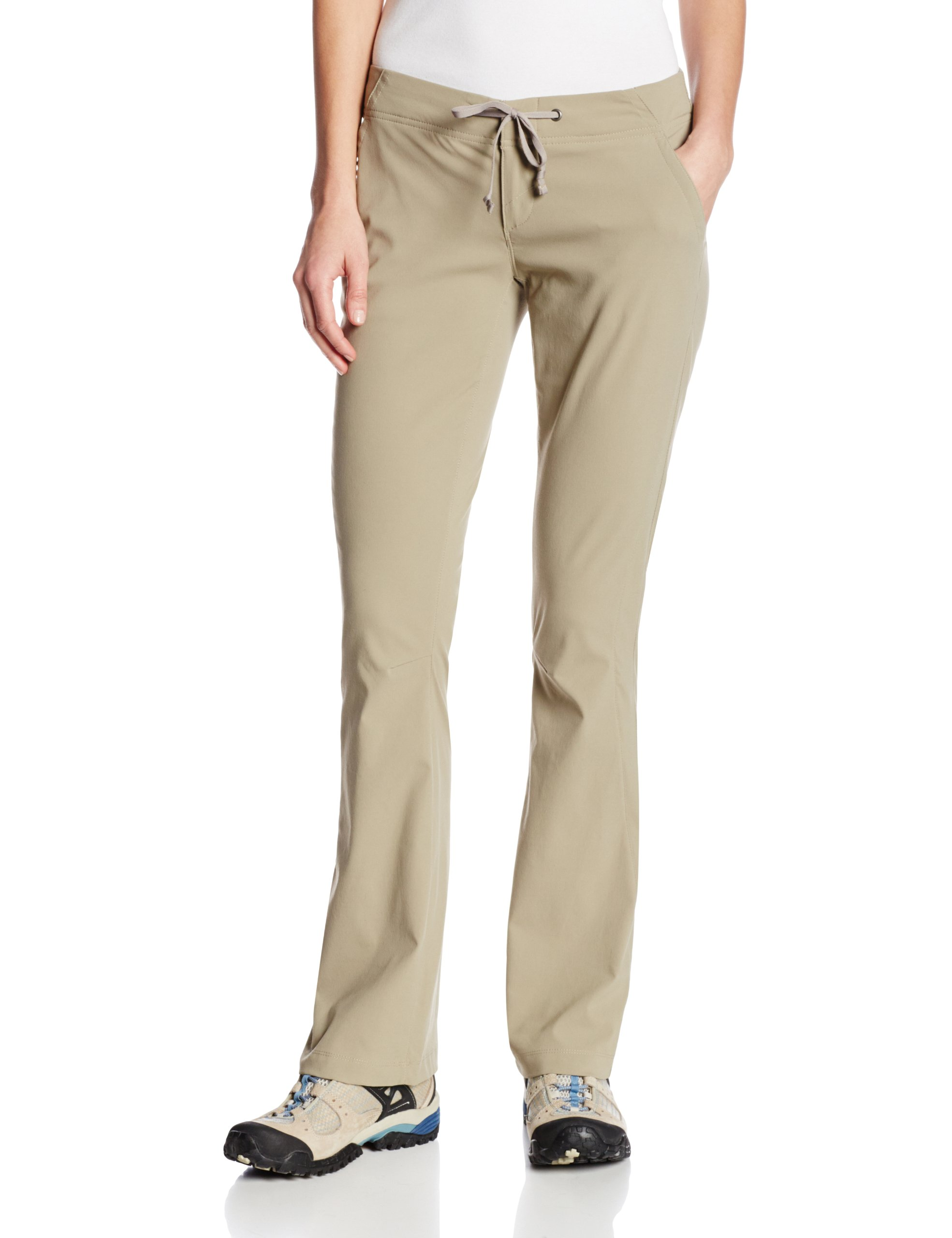 Columbia Women's Anytime Outdoor Boot Cut Pant Pants, tusk, 6xS