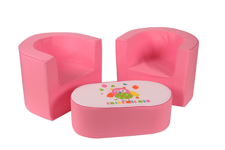 knorr-baby, Set tavolino e 2 poltroncine per bambine, Rosa (rosa) knorr-baby GmbH 470305