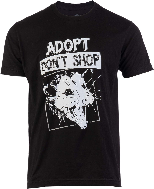 Adopt, Don't Shop Screaming Opposum | Funny Sarcastic Saying Phrase Men Women T-Shirt