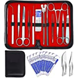 20 PCS ADVANCED BIOLOGY LAB ANATOMY MEDICAL STUDENT DISSECTING DISSECTION KIT SET WITH SCALPEL KNIFE HANDLE BLADES #10…
