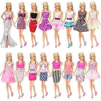 Miunana 5x Vestidos De Fiesta Hechos A Mano Ropas Estilo Al Azar Para Muñeca 115 Pulgaga 28 30 Cm Doll