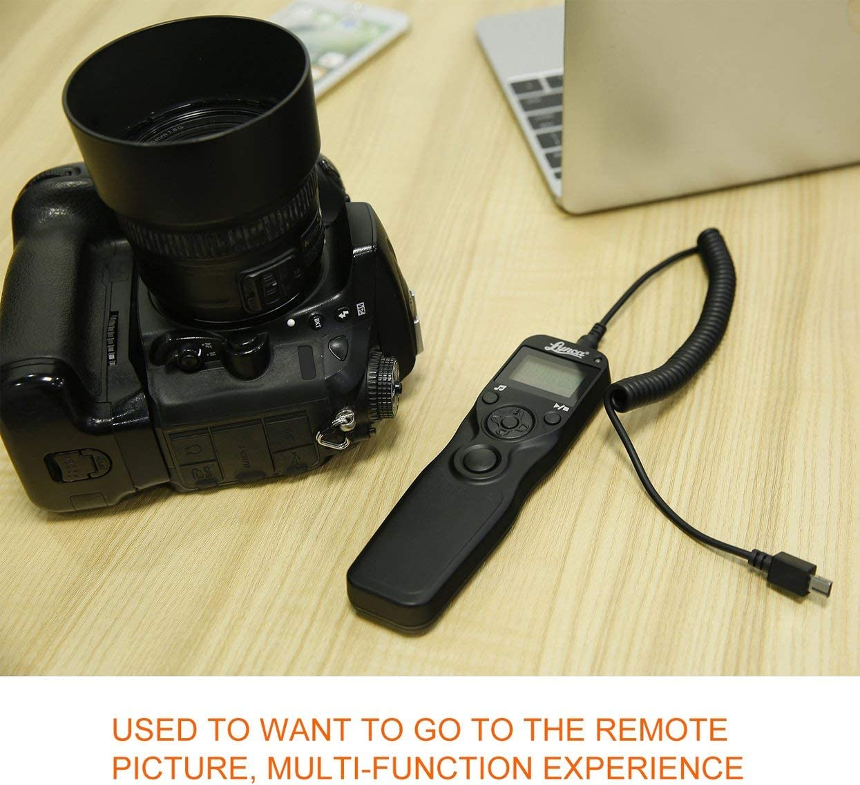 Replacement for MC-DC2 Detectorcatty Digital Timer Remote Control Shutter Release Trigger for Nikon D90 D5000 D5200 D7100 D4 Camera