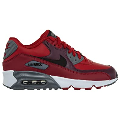 sale retailer f1788 f7de6 Amazon.com | Nike Youth Air Max 90 Gym Red Black Leather Trainers 35.5 EU |  Sneakers