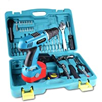 Frantikon 18V Cordless Drill Driver Hand Tool Set With Storage Case 50 pieces