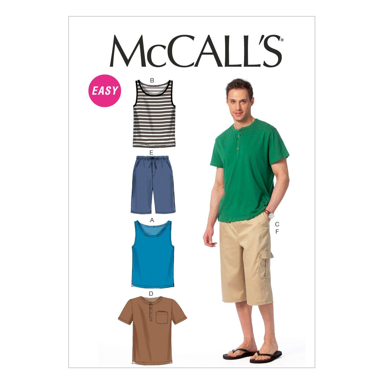 Amazon.com: McCall Pattern Company M6973 Men\'s Tank Tops, T-Shirts ...