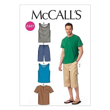 T Shirts ... Free UK P/&P McCalls Mens Easy Sewing Pattern 6973 Tank Tops