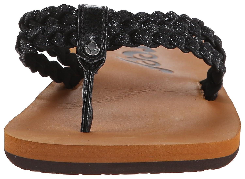 Amazon.com | Reef Women's Starglitz Flip Flop, Black, 5 M US | Flip-Flops