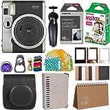 Fujifilm Instax Mini 90 Instant Camera + Fuji Instax Film (20 Sheets) + Giant Accessories Bundle(12 piece) (Black)