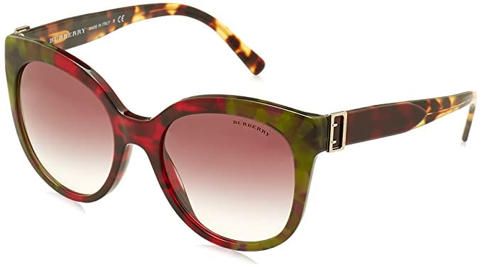eeb5ffc6b80e Burberry BE4243 36388H Havana Green Bordeaux Green BE4243 Cats Eyes ...