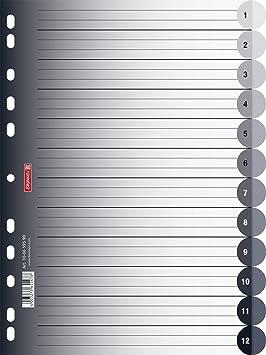 Brunnen - Separadores para agenda de contactos (A4, 12 ...
