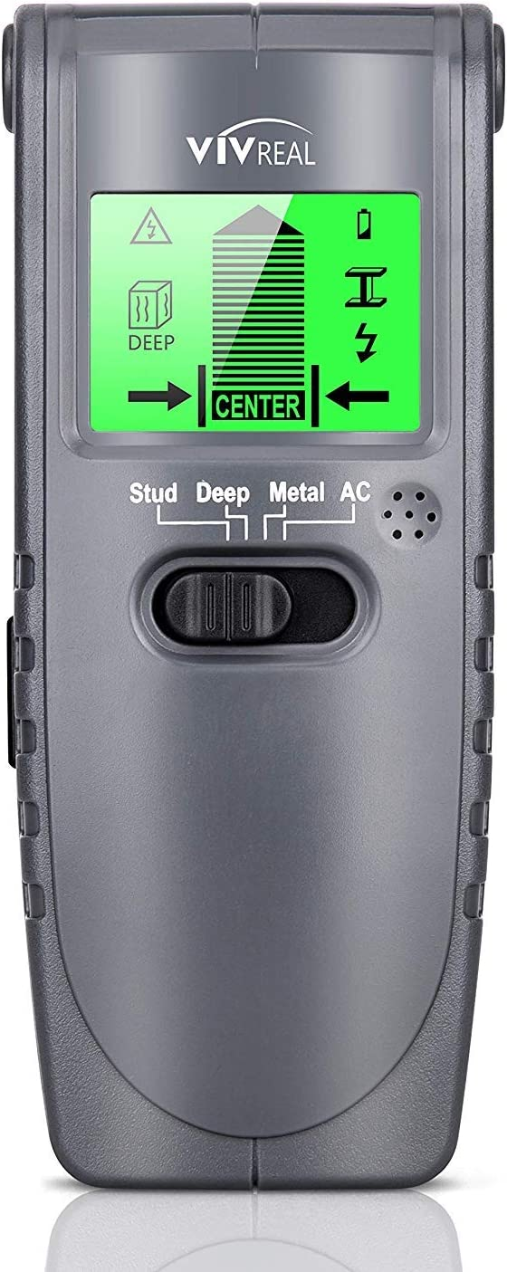 Stud Finder Wall Scanner - 4 in 1 Electric Multi Function Wall Detector Finders with Digital LCD Display, Center Finding Stud Sensor & Sound Warning for Studs/Wood/Metal/Live AC Wires