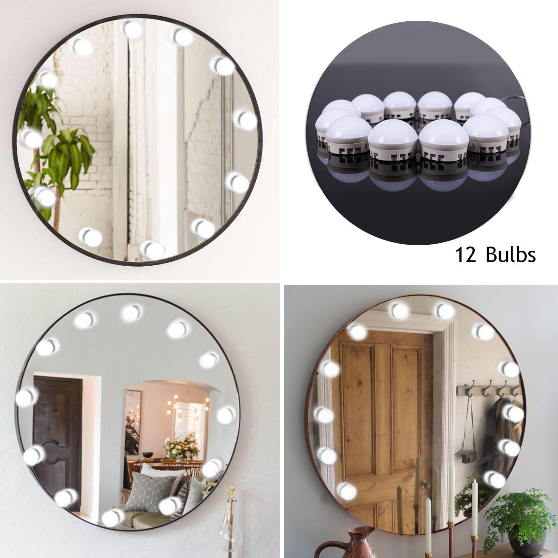 Guckmall LED Spiegelleuchten,Schminktisch Leuchte ,Hollywood-Stil 12 ...