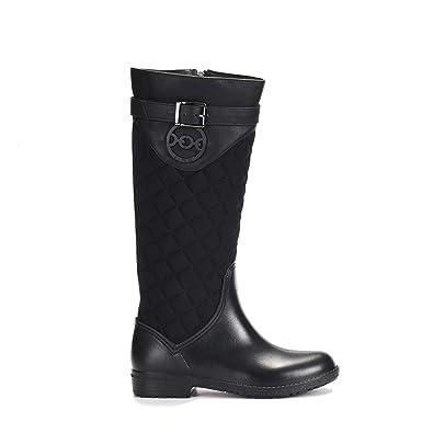 c8cbc9c01 ZJHEHE Rain Boots for Womens Fashion Waterproof Spliced Rainshoes (6)