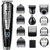 Hatteker Beard Trimmer Kit For Men Cordless Mustache Trimmer Hair Trimmer Groomer Kit Precision Trimmer Nose Hair…