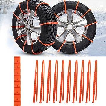 ... generación reforzado cadenas de nieve disco rueda neumático antideslizante ajuste universal neumático ancho 175 - 295 neumático: Amazon.es: Coche y moto