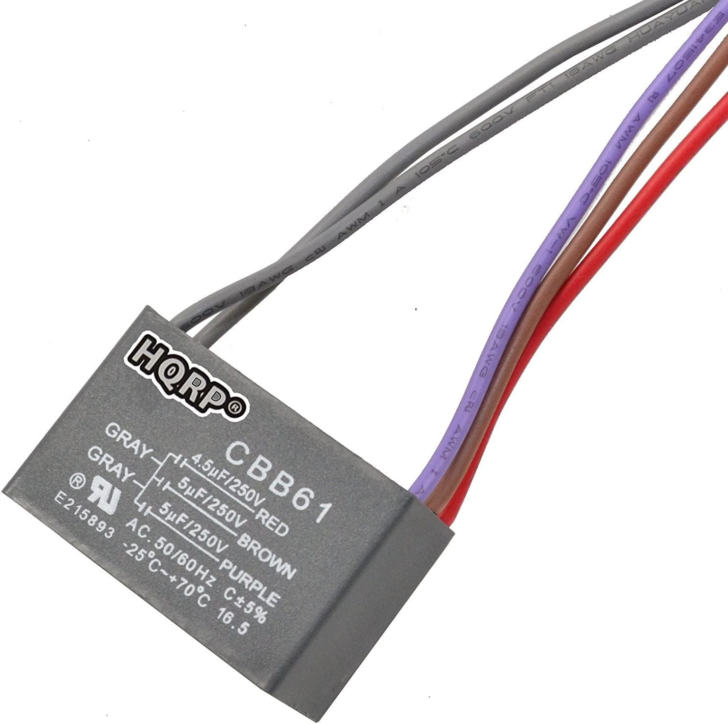 HQRP Capacitor for Hampton Bay Ceiling Fan 1uf+2uf 3-Wire plus HQRP Coaster