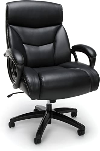 OFM ESS Collection Big and Tall Bonded Leather Executive Chair, in Black ESS-6040-BLK