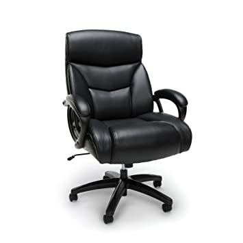 Awe Inspiring Essentials Big And Tall Leather Executive Chair High Back Computer Office Chair Black Machost Co Dining Chair Design Ideas Machostcouk