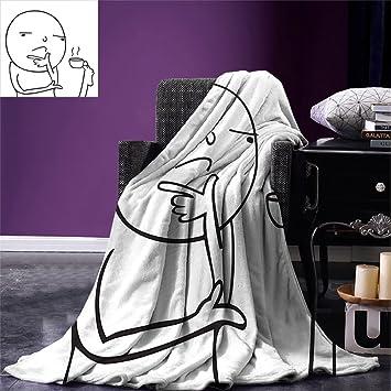 Amazon Com Smallbeefly Humor Custom Design Cozy Flannel Blanket