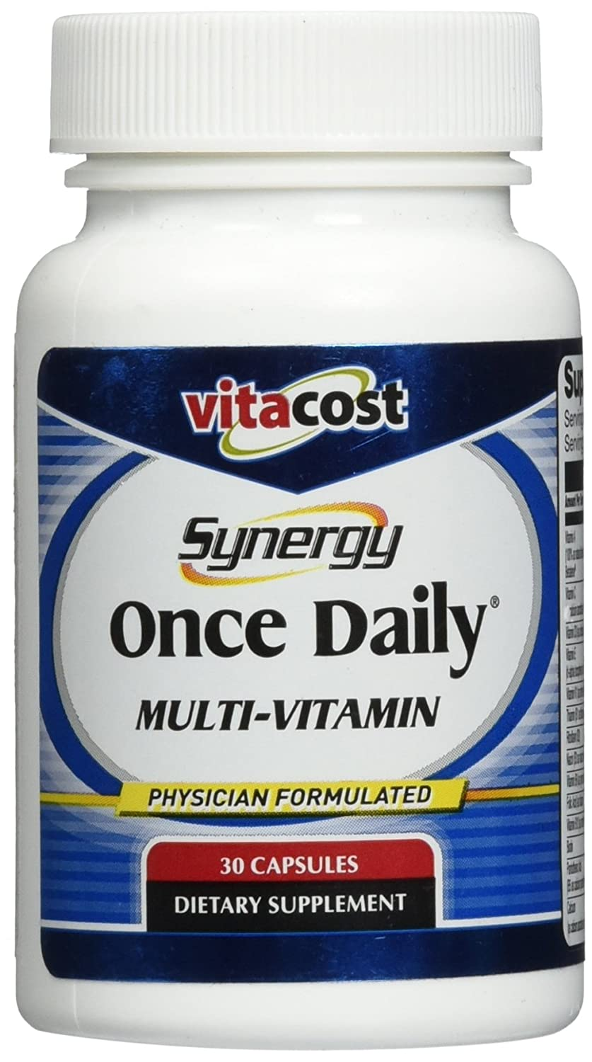 Vitacost Synergy Once Daily Multi-Vitamin — 30 Capsules