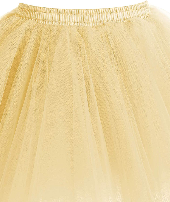 Timormode Tutu 50er T/üllrock Reifrock Kurz Tanzkleid Unterrock Blase Rockabilly Petticoat Ballett