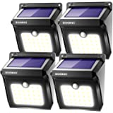 ZOOKKI Solar Lights Outdoor, 28 LED Wireless Motion Sensor Lights, IP65 Waterproof Wall Light Easy-to-Install Security…