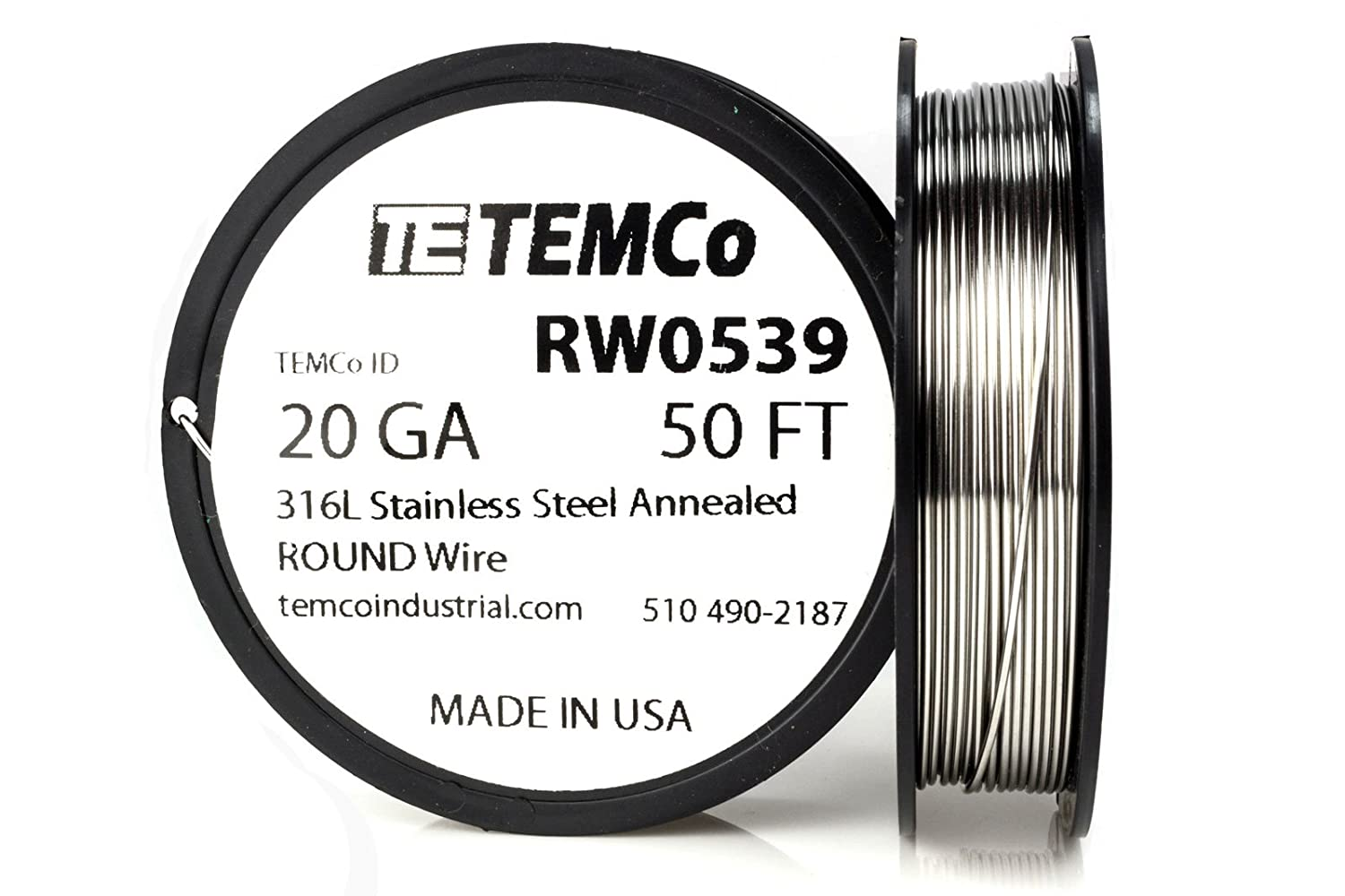 TEMCo Stainless Steel Wire SS 316L - 20 Gauge 100 FT Non-Resistance ...