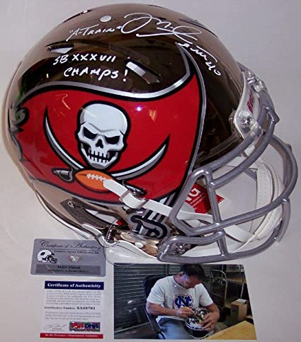 30968d3e0 Mike Alstott - Autographed Official Full Size Riddell Chrome Speed Authentic  Proline Football Helmet - Tampa