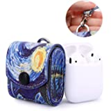 MoKo AirPods Case, Magnetic Snap Closure Protective Cover Carrying Pouch Pocket, with Holding Strap, Leather Protective…