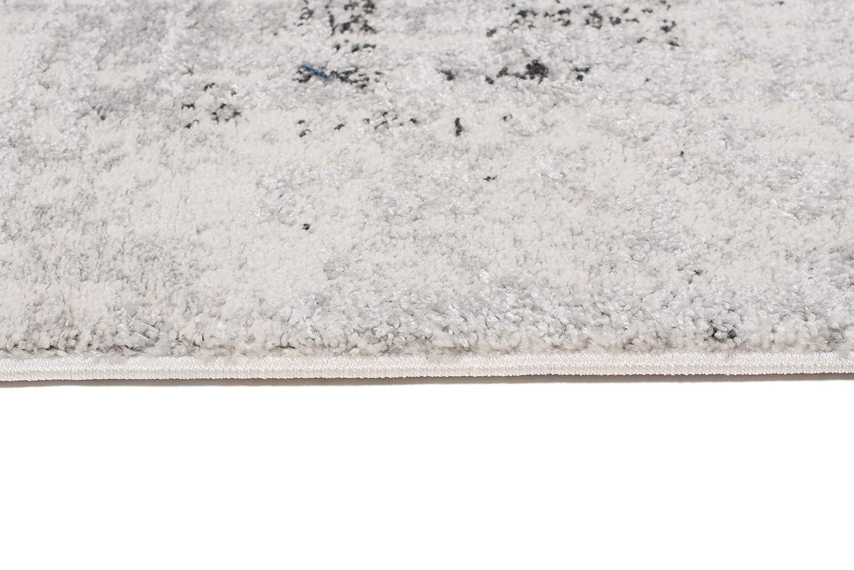 TAPISO Troya Tappeto Vintage Moquette Moderno Salotto Soggiorno Camera da Letto Antracite Crema Astratto Morbido 60 x 100 cm