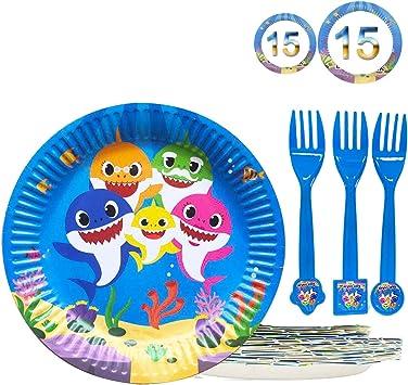 Amazon.com: Juego de postres para fiesta de cumpleaños con ...