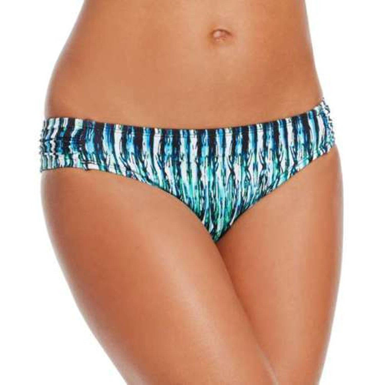 Bar III Ruched Sides Bikini Bottom Indigo XS [並行輸入品] B075CCZWBJ
