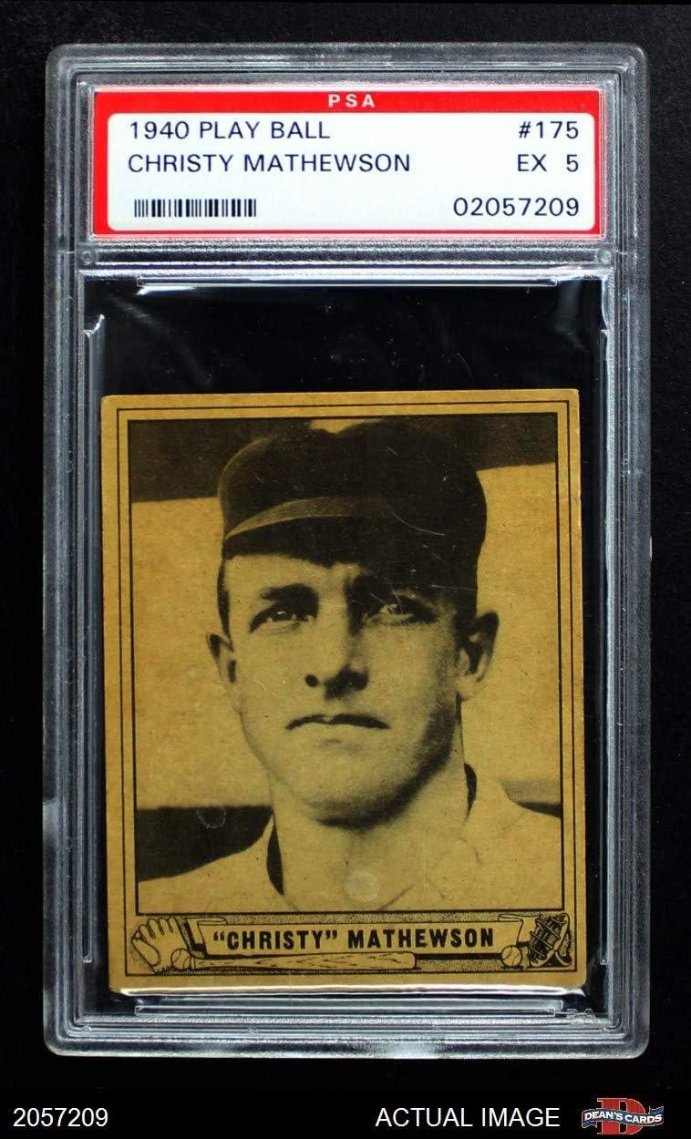 1940 Play Ball # 175 Christy Mathewson New York Giants (Baseball Card) PSA 5 - EX Giants 71UWG83D2BbLSL1250_
