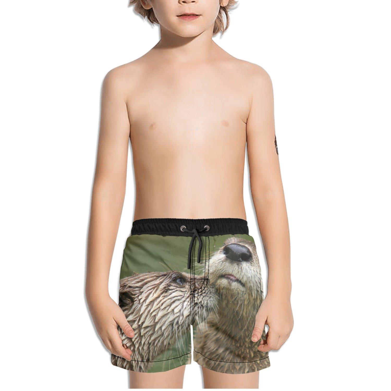 Ouxioaz Boys Swim Trunk Animals Otter Beach Board Shorts