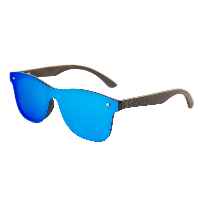 Limitless SunglassesRetro Frameless Mirror Wooden Uv400 Eyewear Rimless Polarized Vintage qR4L5Aj3