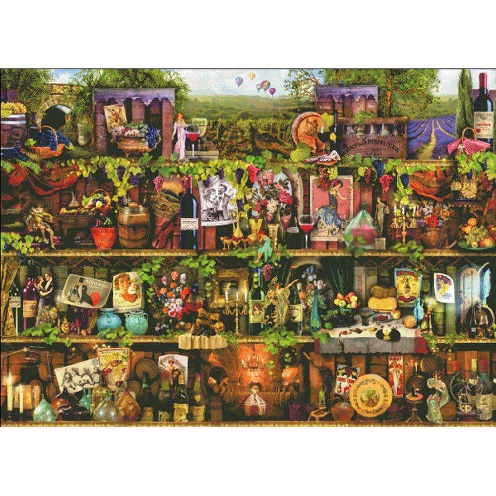 Heaven And Earth Designs(HAED) クロスステッチキットWine Shelf Max Colors [並行輸入品] B01AHM5LF4