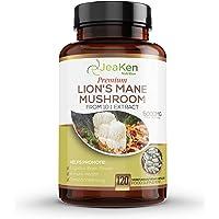 LIONS MANE MUSHROOM CAPSULES - Hjärntillskott för kognitiv hjärnkraft - 5000 mg per servering av Nootropics-tillskott…