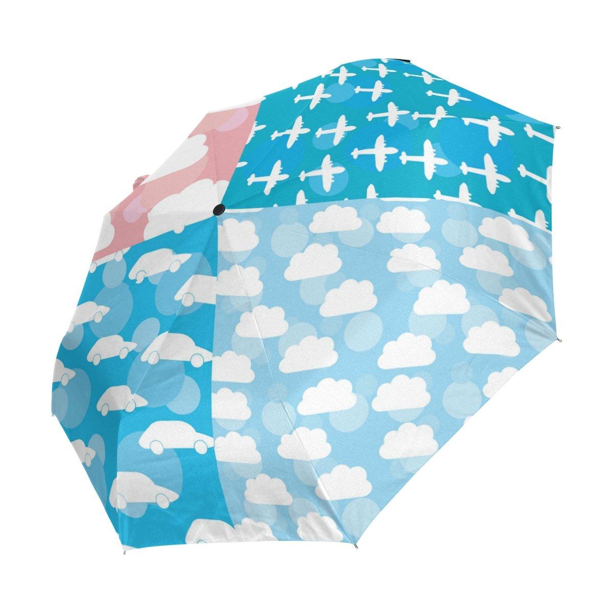 AOMOKI 折り畳み傘 くも 飛行機 車