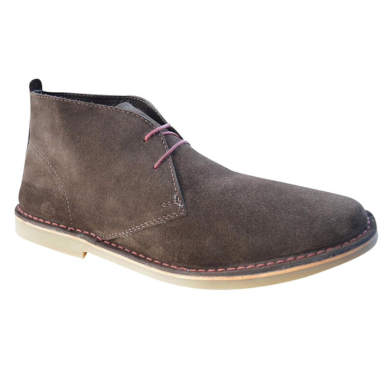 Ikon    Unisex Erwachsene Desert Boots Schokobraun
