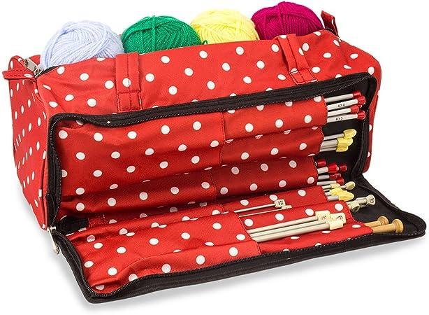 Roo Beauty Ltd Bolsa de Tejer, Accesorios de Costura y Estuche Organizador de Agujas para Manualidades: Amazon.es: Hogar