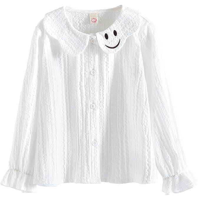 1a7e5591e34c Amazon.com  Children s Clothing Girls Shirt Spring 2018 New Cotton ...