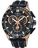 Pulsar - PX7006X1 - Montre Homme - Quartz Chronographe - Chronomètre/Aiguilles/Luminescent - Bracelet Cuir Noir
