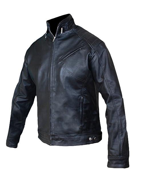 Amazon.com: Mens Leather Jacket - Jeremy Renner Bourne ...