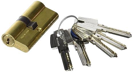Tesa Assa Abloy, T6553535L, Cilindro de seguridad T60, Leva larga, 35x35mm, Latonado: Amazon.es: Bricolaje y herramientas