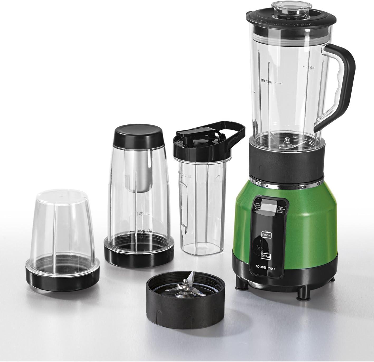 Gourmet Maxx Nutrition Licuadora con función de calefacción y refrigeración de 12 piezas 1200 W con recetas (HSN – Robot de cocina para cortar, trocear, puré, moler, Mezclar, Mezclar calentar y almacenar)