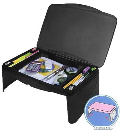 Merveilleux Kids Folding 17u0026quot; X 11u0026quot; Lap Desk With Storage   Black   Durable  Lightweight