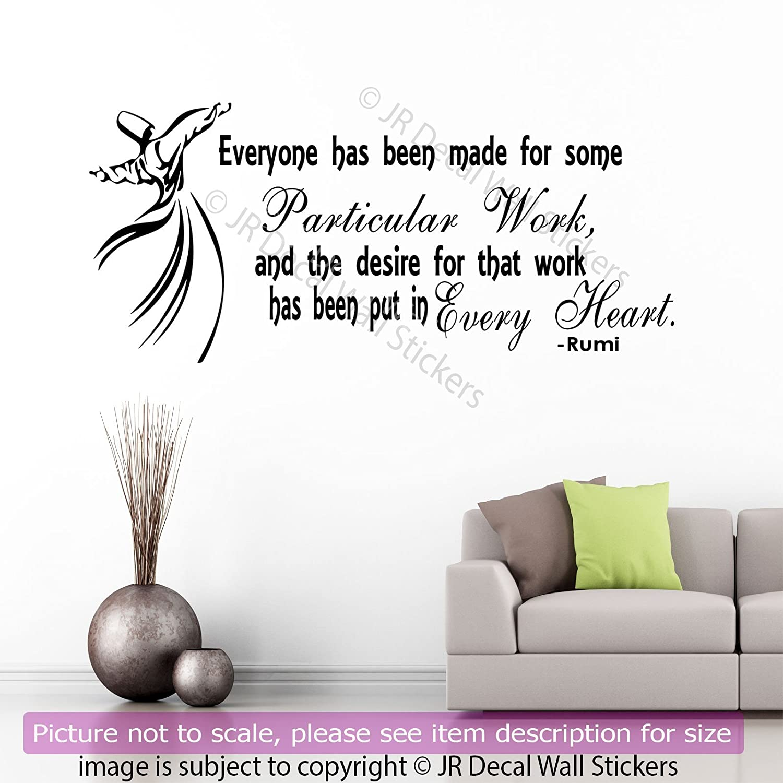 Amazon Jalaluddin Rumi Quote Vinyl Wall Art Stickers Rumi